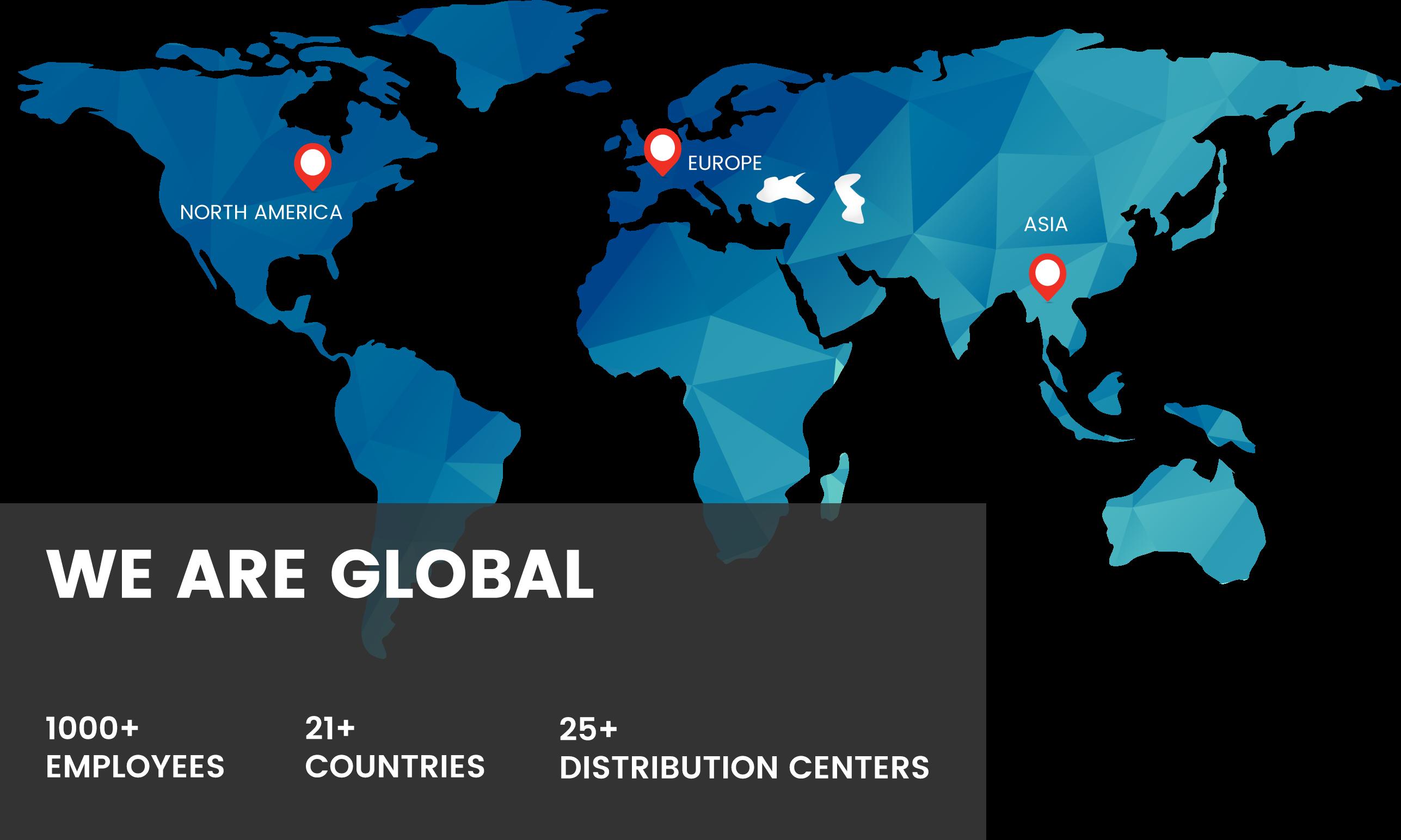Ellsworth Global Map